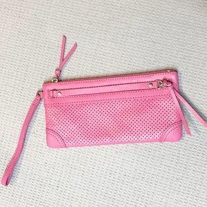 Banana Republic pink leather  wallet wristlet